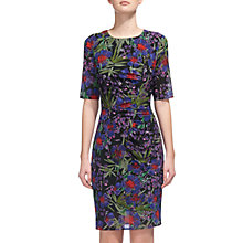 Buy Whistles Maria Floris Print Bodycon Dress, Purple/Multi Online at johnlewis.com