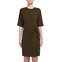 Buy Whistles Abi Knot Knitted T-Shirt Dress, Khaki Online at johnlewis.com