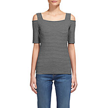 Buy Whistles Cold Shoulder Stripe Top, Multi Online at johnlewis.com