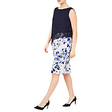 Buy Jacques Vert Print Dress, Navy/White Online at johnlewis.com