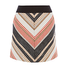 Buy Karen Millen Texture Tweed Skirt, Multi Online at johnlewis.com