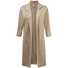Buy Pure Collection Julianne Double Faced Cotton Cashmere Coat, Stone Online at johnlewis.com