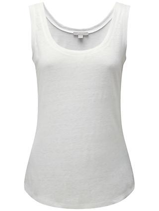 ab2ce4f62ba Pure Collection Linen Jersey Vest
