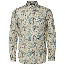 Buy Selected Homme Brandon Floral Printed Shirt, Marshmallow Online at johnlewis.com