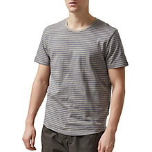 Buy Selected Homme Jannick Striped T-Shirt, Elephant Grey Online at johnlewis.com