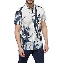 Buy Selected Homme Two Japan Printed Short Sleeve Shirt, Marshmallow Online at johnlewis.com