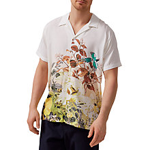 Buy Selected Homme Two Ross Silk-Effect Short Sleeve Shirt, Turtle Dove Online at johnlewis.com