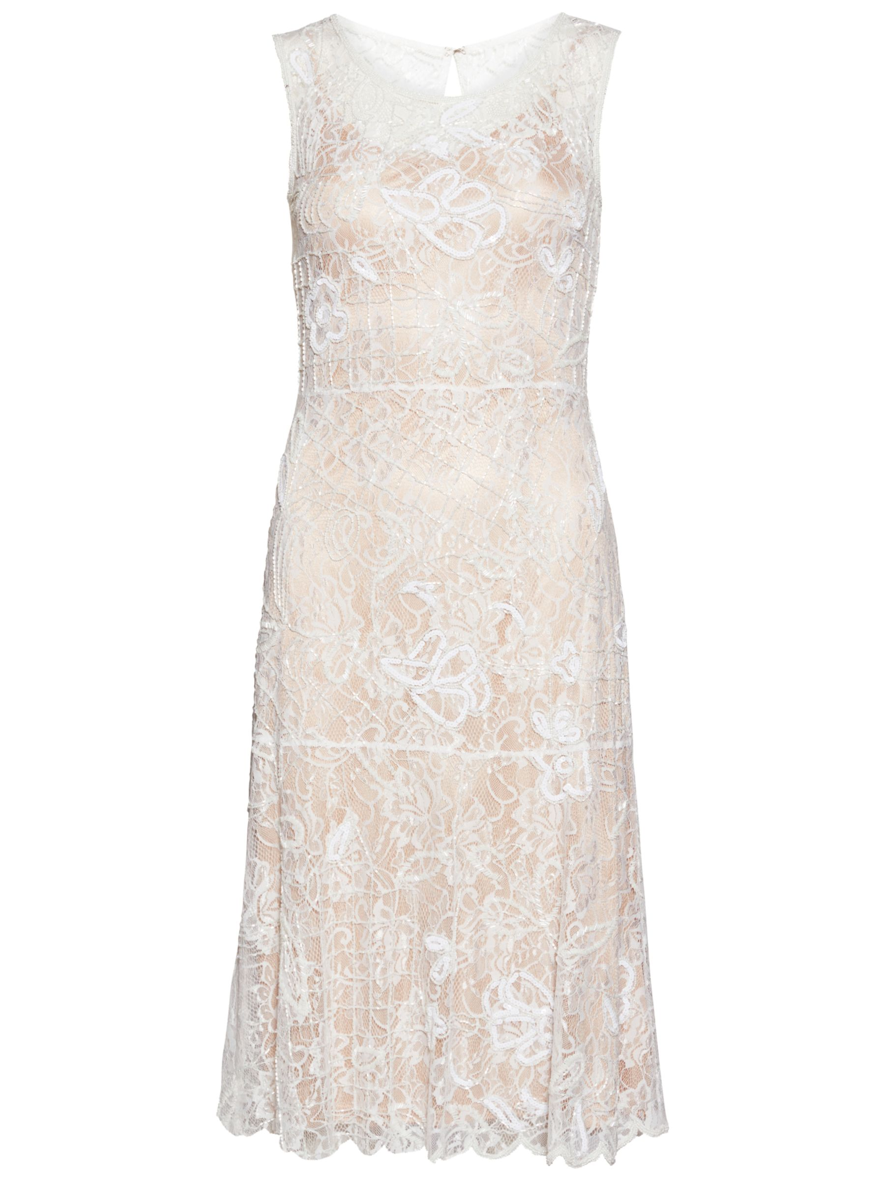 Fun 1920s Flapper Dresses & Quality Flapper Costumes Gina Bacconi Beaded Lace Dress £340.00 AT vintagedancer.com