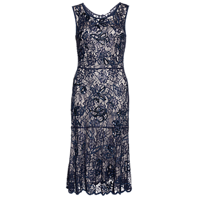 Fun 1920s Flapper Dresses & Quality Flapper Costumes Gina Bacconi Beaded Lace Dress £238.00 AT vintagedancer.com
