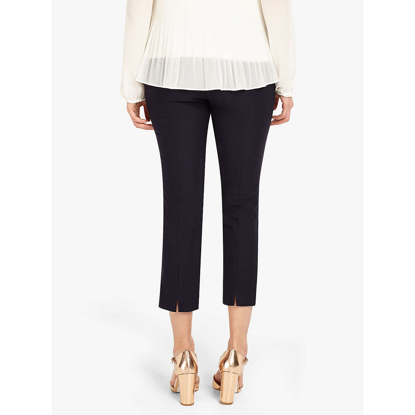BuyPhase Eight Halle Cropped Trousers, Navy, 8 Online at johnlewis.com