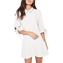 Buy Miss Selfridge Petite Tie Sleeve Shirt Dress, Grey Online at johnlewis.com