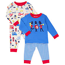 Buy John Lewis Baby London Theme Soldier Pyjamas, Pack of 2, Blue/Multi Online at johnlewis.com