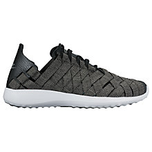 Buy Nike Juvenate Woven Premium Women's Trainers, Black/Grey Online at johnlewis.com