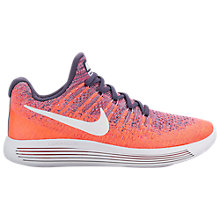 Buy Nike LunarEpic Low Flyknit 2 Women's Running Shoes, Purple/White Online at johnlewis.com