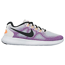 Buy Nike Free RN 2017 Women's Running Shoes, White/Purple Online at johnlewis.com