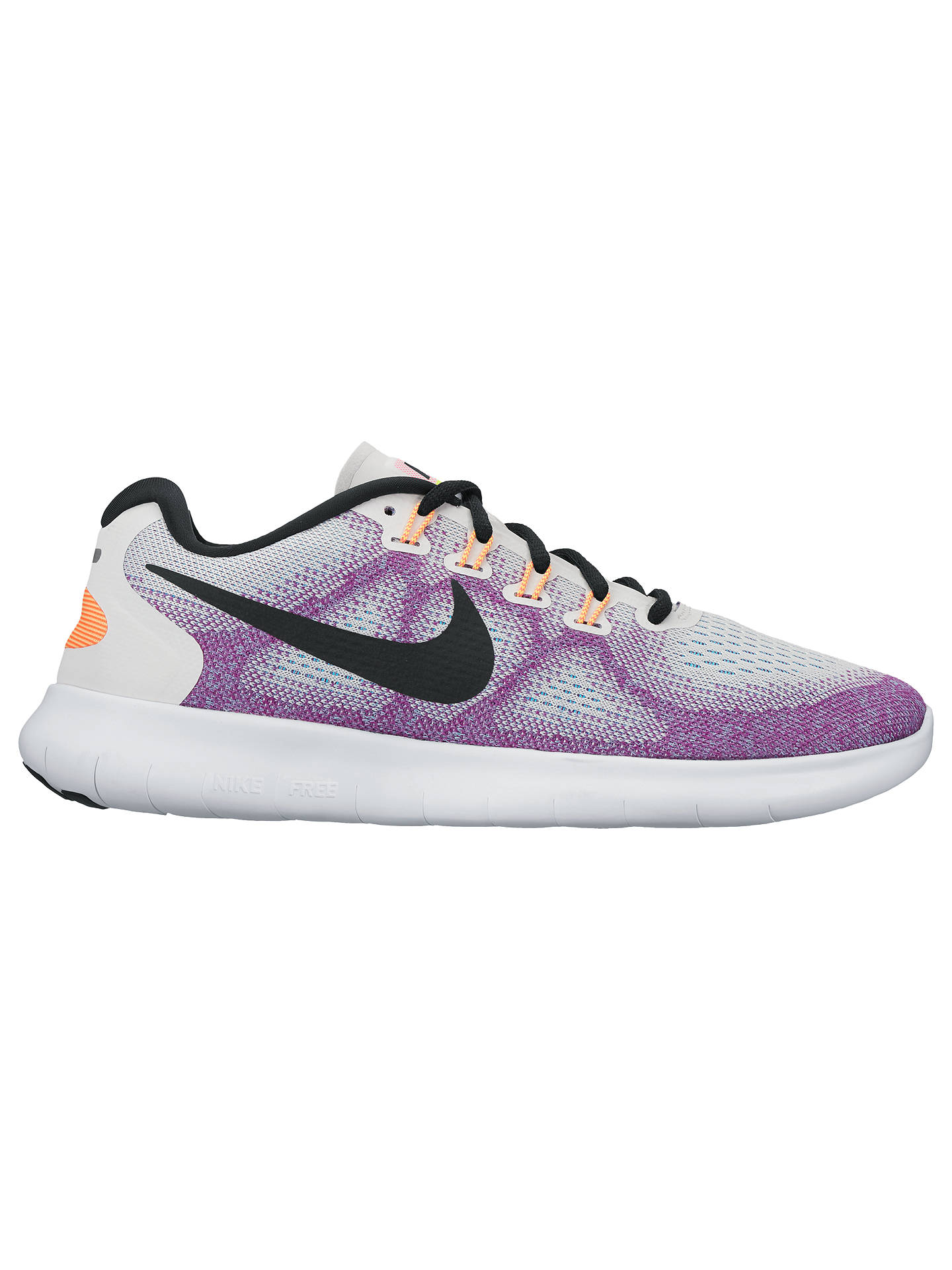 c90ee24496 Buy Nike Free RN 2017 Women's Running Shoes, White/Purple, 4 Online at ...