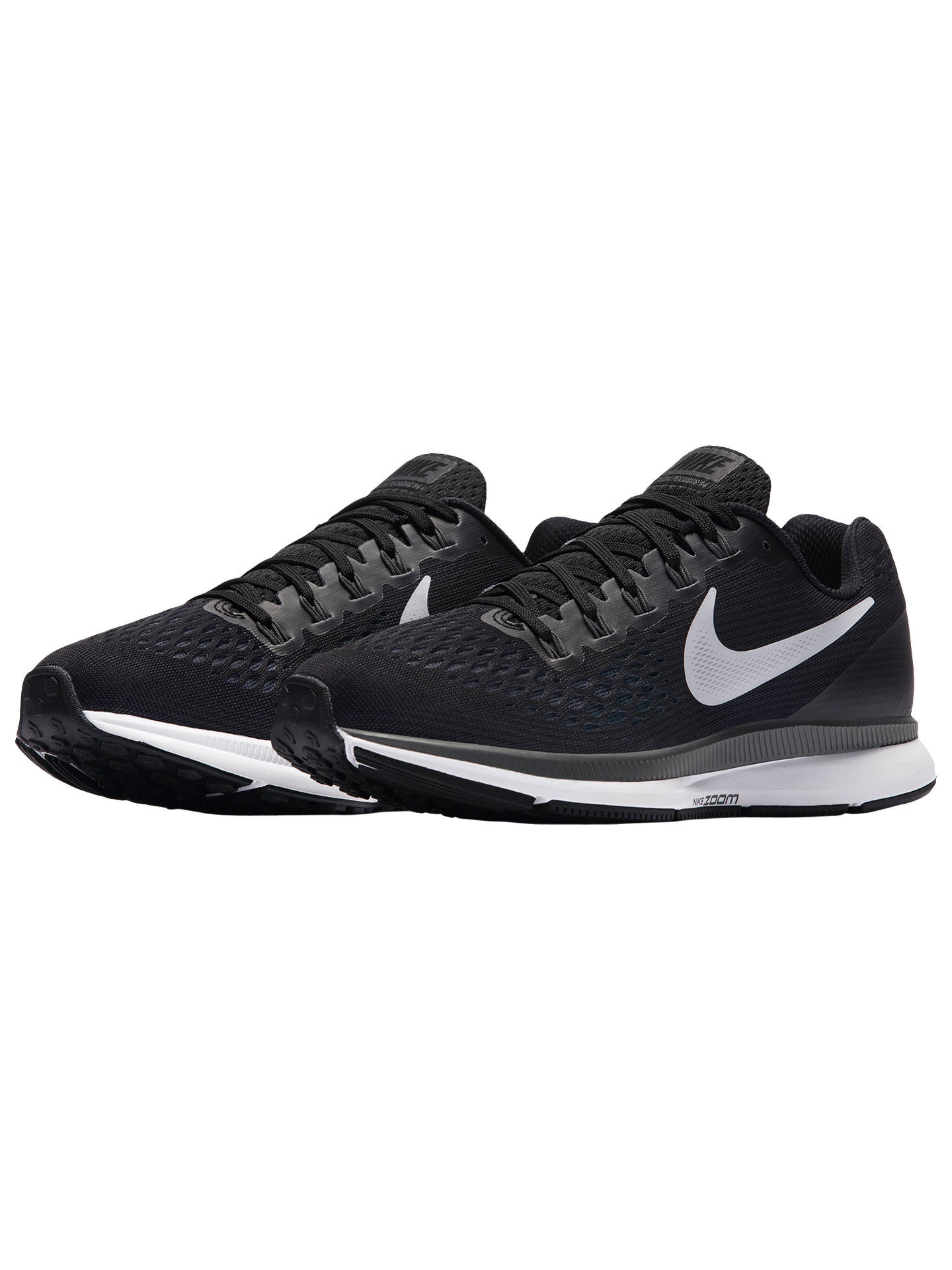 best sneakers f8242 869f0 ... Buy Nike Air Zoom Pegasus 34 Women s Running Shoes, Black White Grey,  ...