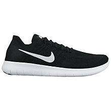 Buy Nike Free RN Flyknit 2017 Men's Running Shoes, Black/White Online at johnlewis.com