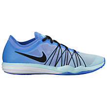 Buy Nike Dual Fusion TR HIT Women's Training Shoes, Blue/Black Online at johnlewis.com