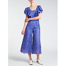 Buy Somerset by Alice Temperley Lace Frill Jumpsuit, Blue Online at johnlewis.com