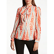 Buy Somerset by Alice Temperley Tie Neck Long Sleeve Blouse, Red Online at johnlewis.com
