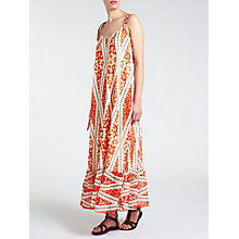 Buy Somerset by Alice Temperley Deco Print Long Dress, Red Online at johnlewis.com