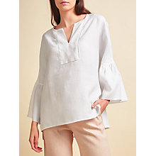 Buy Modern Rarity Linen Frill Sleeve Blouse Online at johnlewis.com