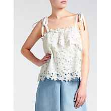 Buy Somerset by Alice Temperley Tie Shoulder Lace Cami Online at johnlewis.com