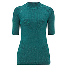 Buy Finery Lyford Metallic Fibre Knit Jumper, Pine Needle Online at johnlewis.com