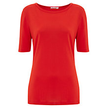 Buy Finery Quentin Super Soft Neat Jersey T-Shirt, Neon Flame Online at johnlewis.com