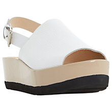 Buy Dune Black Leader Flatform Sandals Online at johnlewis.com
