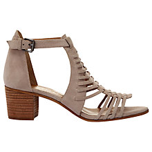 Buy Mint Velvet Robyn Block Heeled Sandals, Nude Online at johnlewis.com