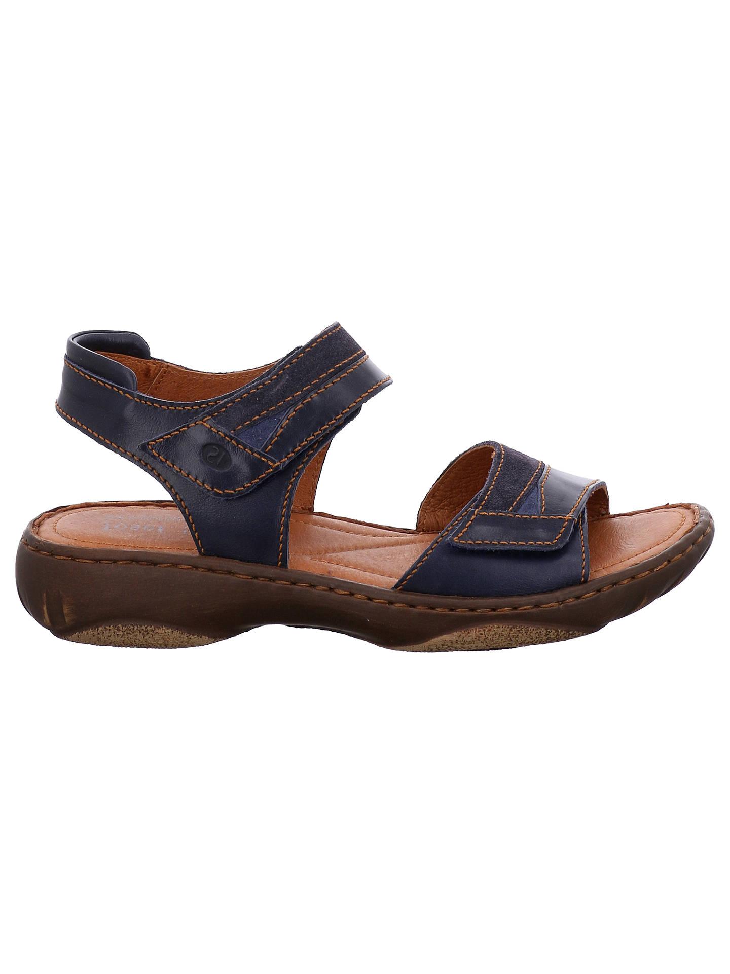 Josef Seibel Debra 19 Rip Tape Flat Sandals At John Lewis Partners Tendencies Footbed 2 Strap Brown 42 Buyjosef Denim Blue Leather 3 Online