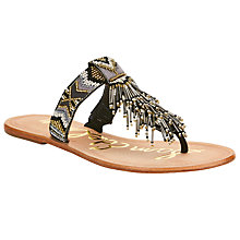 Buy Sam Edelman Anella Beaded Toe Post Sandals, Black/Multi Online at johnlewis.com