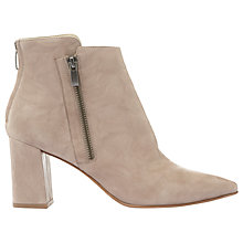 Buy Mint Velvet Rose Side Zip Ankle Boots, Stone Online at johnlewis.com