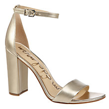 Buy Sam Edelman Yaro Block Heeled Sandals, Light Gold Online at johnlewis.com
