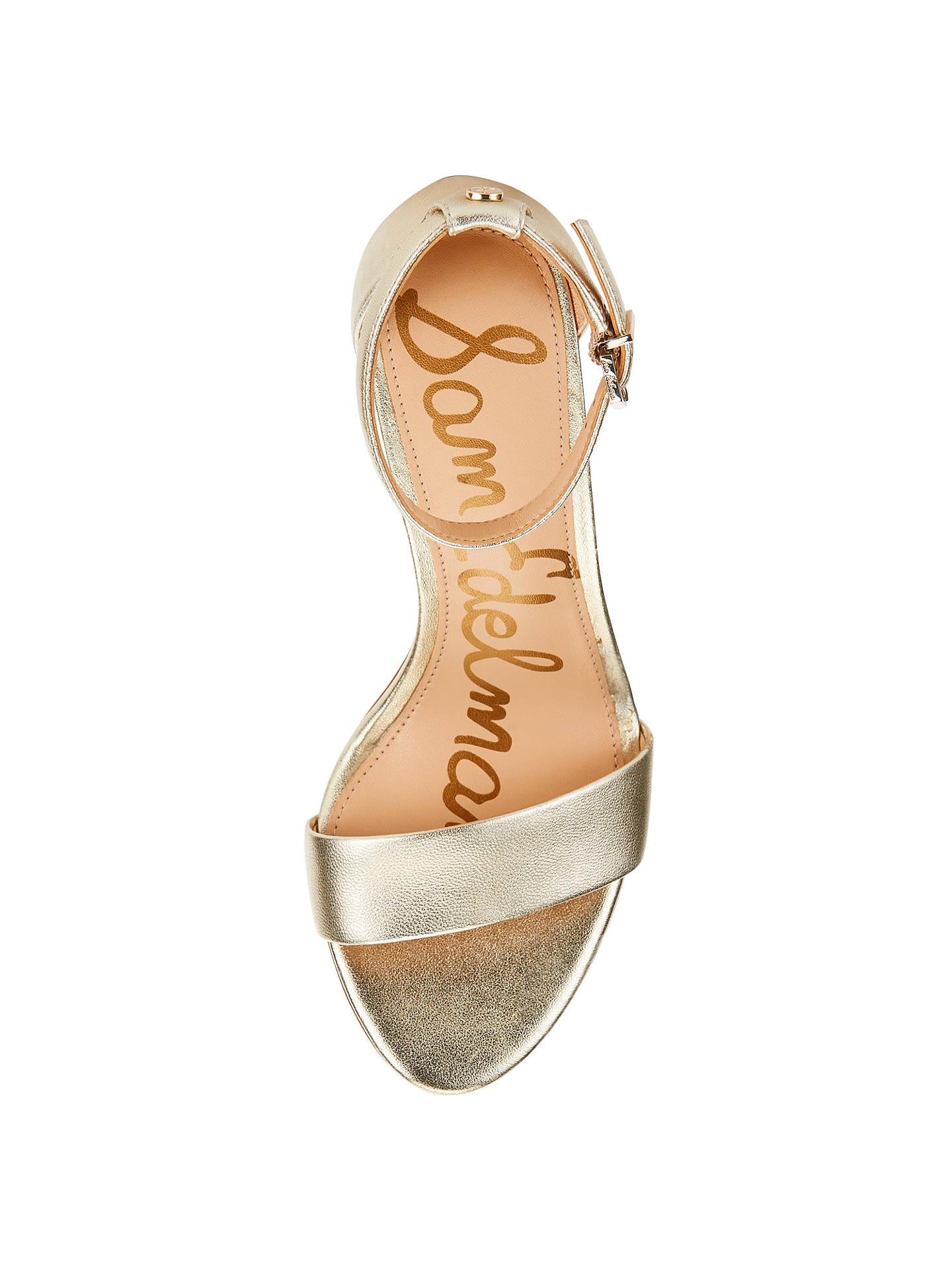 4f664805fdb Sam Edelman Yaro Block Heeled Sandals, Light Gold at John Lewis ...
