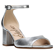 Buy Sam Edelman Susie Block Heeled Sandals, Silver Metallic Online at johnlewis.com