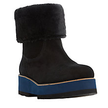 Buy Dune Black Rome Flatform Ankle Boots Online at johnlewis.com