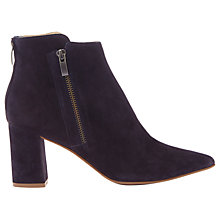 Buy Mint Velvet Rose Side Zip Ankle Boots, Navy Online at johnlewis.com