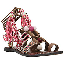 Buy Sam Edelman Gretchen Pom Ankle Strap Sandals, Caramel Online at johnlewis.com
