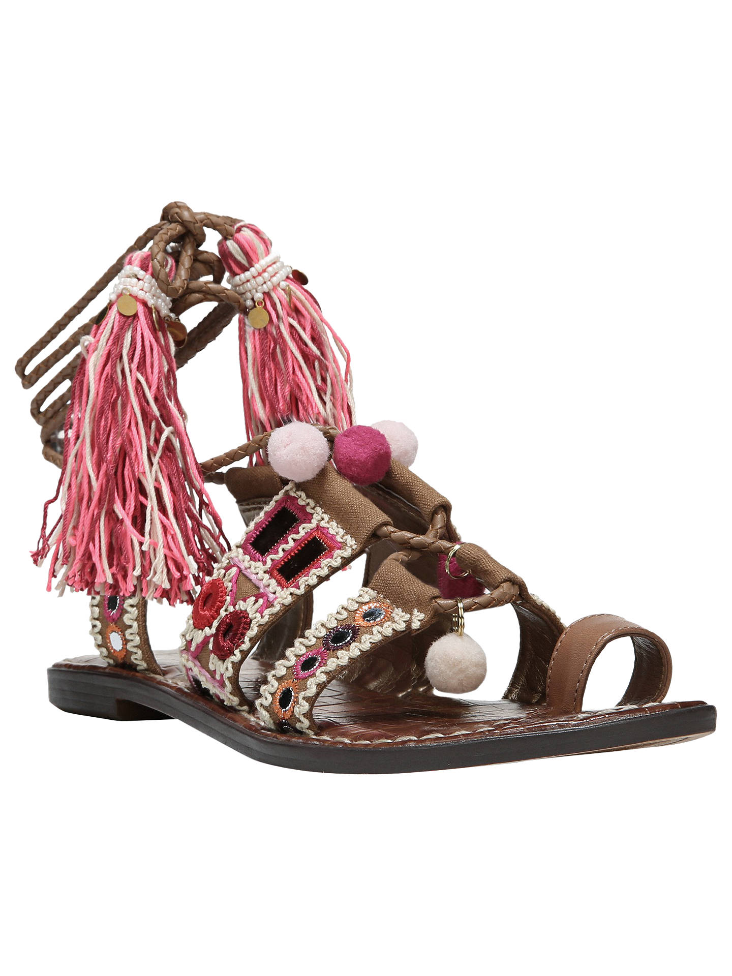 ff6c88932c26 Buy Sam Edelman Gretchen Pom Ankle Strap Sandals