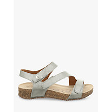 Buy Josef Seibel Tonga 25 Triple Strap Sandals, Silver Online at johnlewis.com