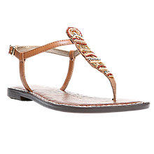 Buy Sam Edelman Grace Beaded Toe Post Sandals, Saddle Online at johnlewis.com