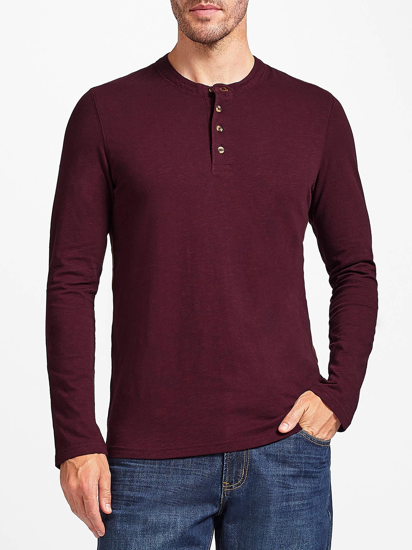 76cf26ae45 John Lewis Plain Slub Cotton Henley T-Shirt at John Lewis & Partners
