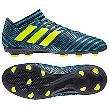 Buy Adidas Children's Nemeziz 17.3 FG Football Boots, Black/Blue Online at johnlewis.com
