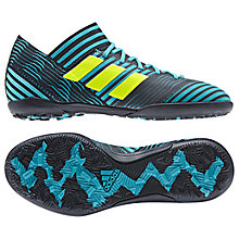 Buy Adidas Children's Nemeziz Tango 17.3 Turf Football Boots, Black/Blue Online at johnlewis.com
