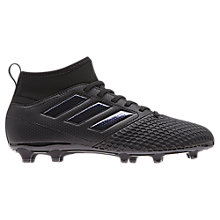 Buy Adidas Children's Ace 17.3 FG Football Boots, Black/White Online at johnlewis.com