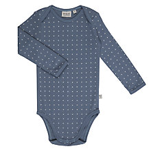 Buy Wheat Baby Star Print Long Sleeve Organic Cotton Bodysuit, Blue Online at johnlewis.com