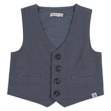 Buy Wheat Baby Woven Waistcoat, Blue Online at johnlewis.com